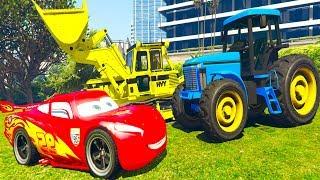 Мультики про Машинки Синий Трактор Экскаватор Супергерои и песенки для детей #Человек Паук