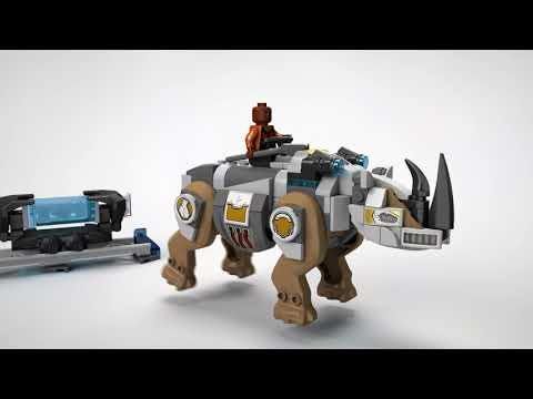 Vidéo LEGO Marvel Super Heroes 76099 : L'affrontement du rhino à la mine