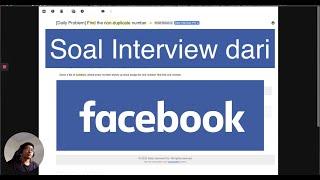 Cuma 2 Baris Ngerjain Soal Interview dari Facebook! | Interview Questions #1