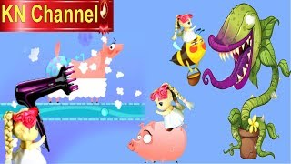 Trò chơi KN Channel BÚP BÊ & CÂY NẮP BÌNH ĂN THỊT CON ONG TRONG NÔNG TRẠI QUÊ NGOẠI