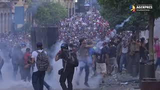 Liban: Noi confruntări între manifestanţi şi poliţişti la Beirut