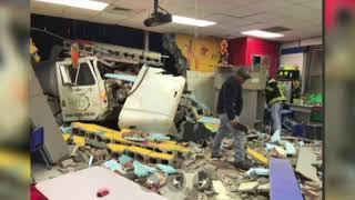 Truck Crashes Into Elementary School