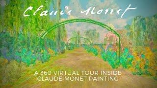 CLAUDE MONET #360video - A WALK INSIDE  Bridge over a Pond of Water Lilies