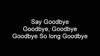 Cory Lee - Goodbye Lyrics