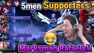 WTF!? 5 Supporters Troll Team in Mythic Rank