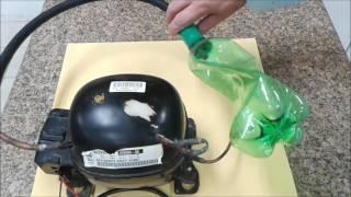 Como Fazer uma Bomba de Vácuo Caseira - Motor  Compressor de Bebedouro