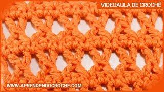 Ponto X no crochê – Tipos de Pontos no Crochê