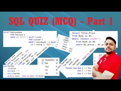 SQL Query Multiple Choice Questions with Answer | SQL Quiz ...