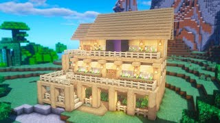 Minecraft Tutorial How To Make A Oak Wood Survival House Minecraftvideos Tv