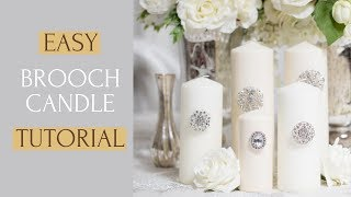 Easy Candle Decoration | DIY Glam Candles In Seconds