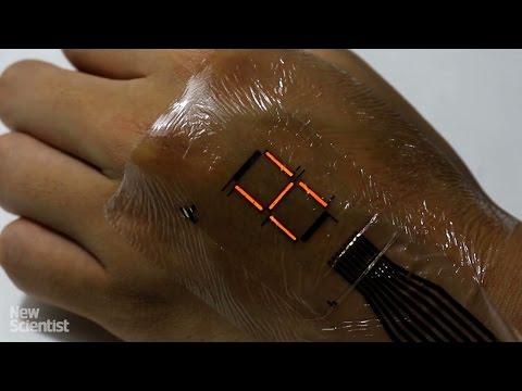 hqdefault Электронная кожа которая превращает ваше тело в дисплей
