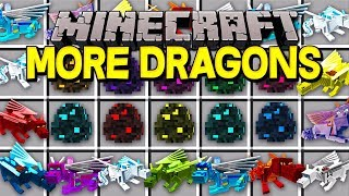 Minecraft MORE DRAGONS MOD! |AIR, GHOST, FIRE, ICE, WATER, DRAGONS, & MORE! | Modded Mini-Game