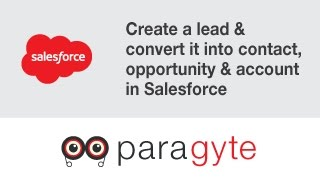 Salesforce Tutorials: How to create a lead & convert it into contact, opportunity & account?