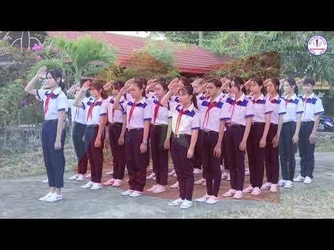 Video dự thi Hát quốc ca tại địa chỉ đỏ trường THCS Quách Văn Phẩm
