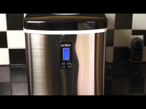 Klarstein KB18 Mr. Silver-Frost Eiswürfelautomat Eiswürfelbereiter Edelstahl Eismaschine