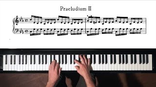 Bach Prelude and Fugue No.2 Well Tempered Clavier, Book 1 with Harmonic Pedal