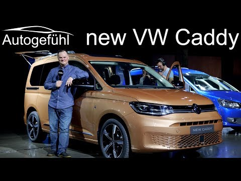 all-new VW Caddy Premiere REVIEW Exterior Interior 2020 passenger vs panel van
