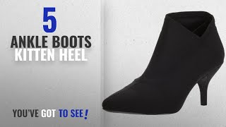 Top 5 Ankle Boots Kitten Heel [2018]: MIA Womens Charleese Ankle Boot, Black, 7.5 M US
