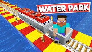 A TRIP TO WATERPARK in MINECRAFT