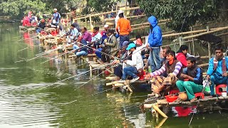 Fishing Competition in Village   Festival Fishing Video By Daily Village Life