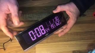 infactory Tischuhr Tisch-Funkwecker Thermometer Hygrometer und USB-Ladebuchse unboxing und Anleitung