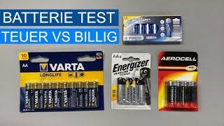Batterie Test, teuer vs billig, wer hält länger durch ?