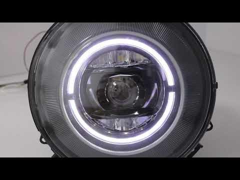 Full LED Headlights suitable for MERCEDES G-Class W463 (1989-2012) Black Facelift 2018 Design