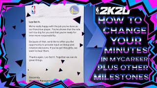 NBA 2K20: How to Change Your Minutes + Other Franchise Player Perks