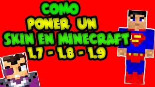 Como Poner Un Skin Minecraft NO PREMIUM Most Popular - Skin para minecraft 1 8 9 sin descargar nada