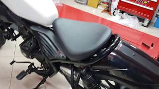 Install Honda Rebel CMX 300 - 500 Real Cowl Tail Tidy With Light