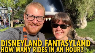 How Many Disneyland Fantasyland Rides Can We Do In An Hour?