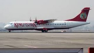 preview picture of video 'Kingfisher Airlines ATR night takeoff at Amritsar International Airport.'