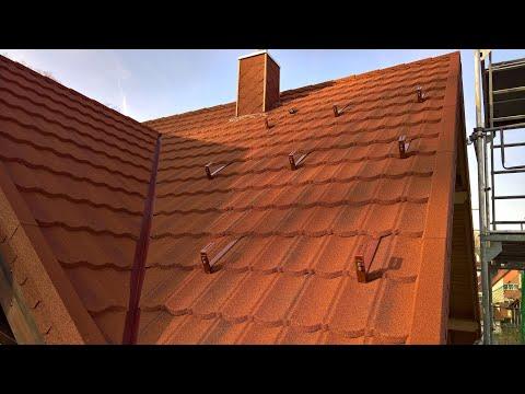 Dach aus Metall, leicht & sturmsicher. AeroDek-Decra & Powertekk. Metalldach Blechdach Dachbleche.