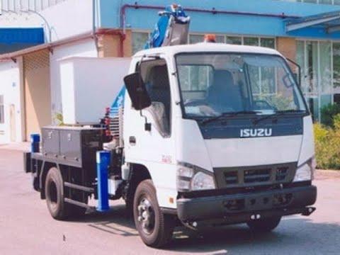 Xe thang nâng người 10m (10 mét) làm việc trên cao isuzu QKR77FE4 cần dasan dap-105