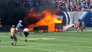 NFL Stadium Fire in Nashville 4K - Tennessee Titans at Nissan Stadium