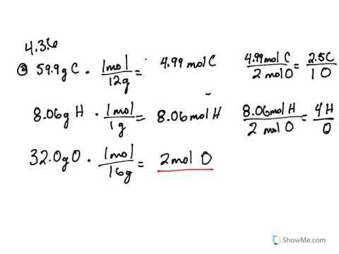 4 3: Empirical and Molecular Formulas (Problems) - Chemistry