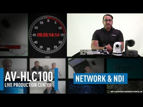 AV-HLC100 Live Production Center: Network Configuration & NDI Setup