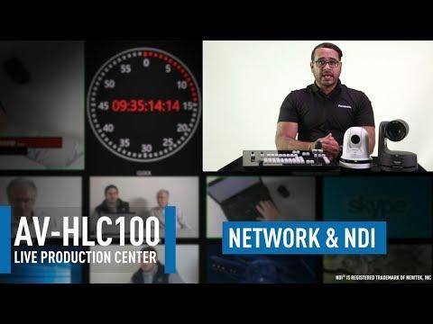 AV-HLC100 Live Production Center: Network Configuration & NDI Setup