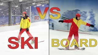 What is harder to learn? Skiing vs Snowboarding