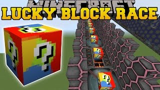 Minecraft: EXTREME MYSTERY LUCKY BLOCK RACE - Lucky Block Mod - Modded Mini-Game