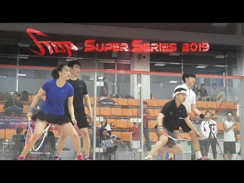 [매치업스쿼시] 오성령-박성진 vs 연관흠-박상현 (S-Top Super Series 2019 복식)