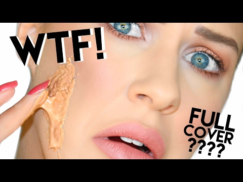 WORLDS MOST FULL COVERAGE FOUNDATION!?? WTF!? | DERMACOL FOUNDATION REVIEW!!