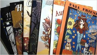 Flip-through Not Friday - Favorite Autumn And Halloween Coloring Books