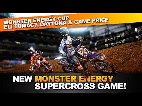 Monster Energy Supercross Game! - Eli Tomac, Daytona, Monster Energy Cup?! (Supercross The Game)