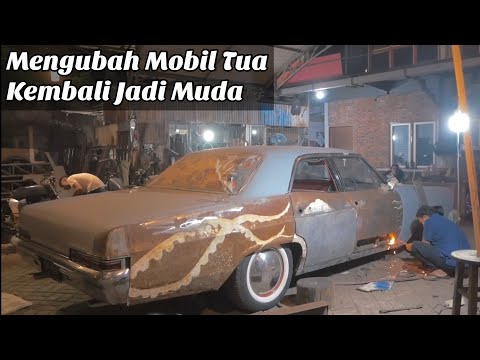 Restorasi Body Keropos Chevrolet Impala 1966