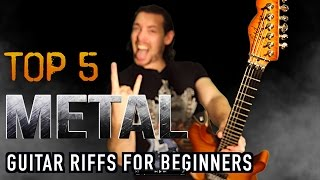 Top 5 Simple Metal Guitar Riffs For Beginners