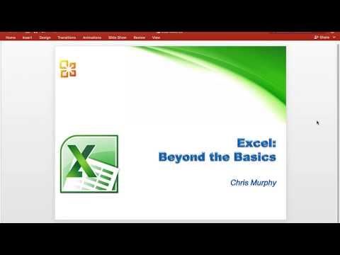 Excel: Intermediate - YouTube