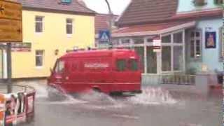 preview picture of video 'Straßen in Thedinghausen nach Starkregen überflutet'