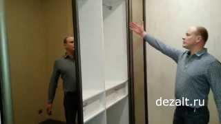 Шкаф-купе делит комнату на две зоны