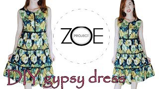 DIY sleeveless gypsy dress | Zoe diy